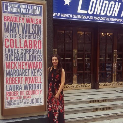 Margaret on the London Palladium Star Billboard