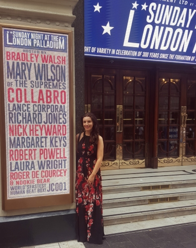 Margaret on the London Palladium Star Billboard