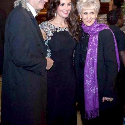 Margaret with Brian May and his wife Anita Dobson