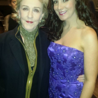 Margaret with actress Patricia Hodge