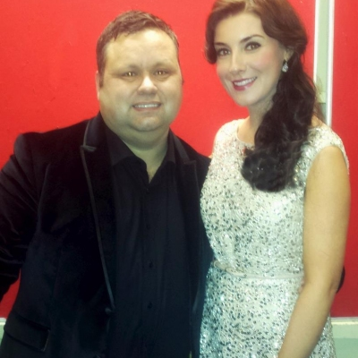 Margaret on tour with Paul Potts