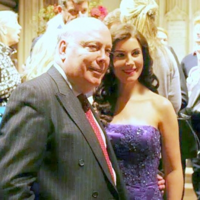 Margaret and the writer of Downton Abbey Sir Julian Fellowes
