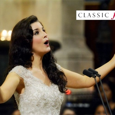 Margaret performing at the Classic FM live Broadcast concert