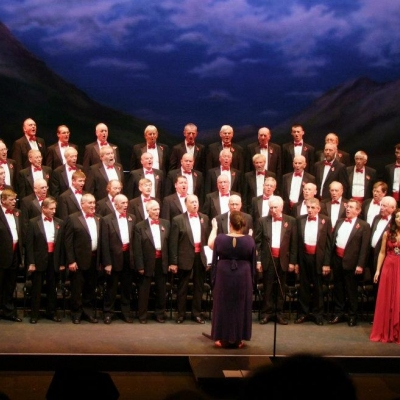 Margaret on tour with the classical brit winners The Fron Male Voice Choir
