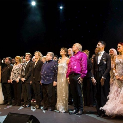Curtain call with the cast at the Theatre Royal