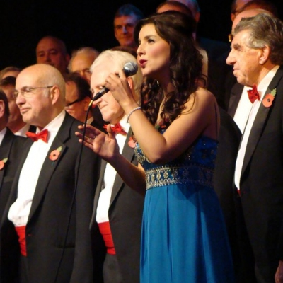 Margaret on tour with the Welsh Fron Male Voice Choir